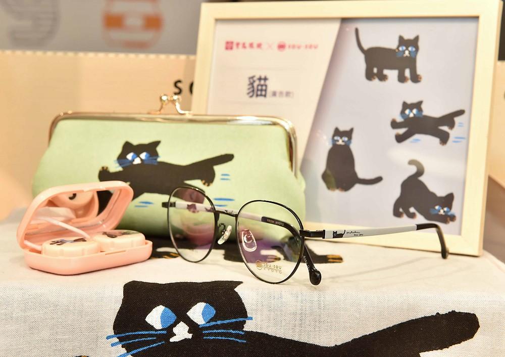 SOUSOU【新聞照片3】充滿童趣的「貓」紋樣,以簡單線條繪製出活靈活現人類視角的頑皮小貓,貓奴們無不發出尖叫