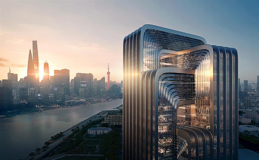 Zaha Hadid事務所操刀上海綠建築新地標!CECEP新總部結合智慧環保的超現實玻璃大樓_01