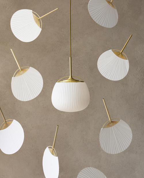 雲扇吊燈設計