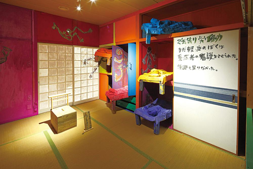 田島征三在2019瀨戶內國際藝術祭的〈N的一生•大島上的七十年〉