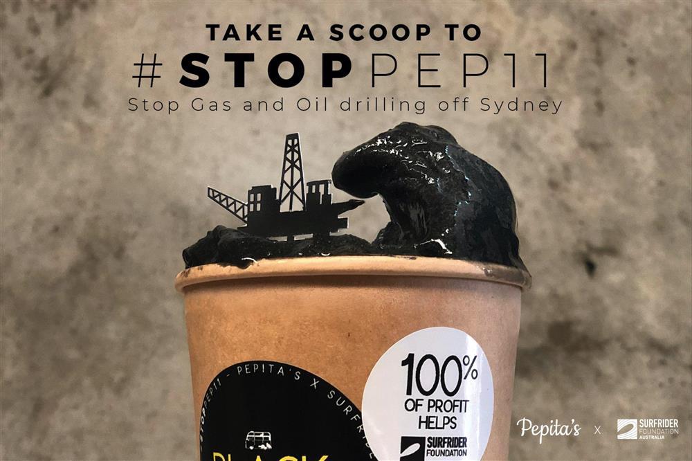 澳洲雪梨冰淇淋店Pepita's黑色冰淇淋廣告d