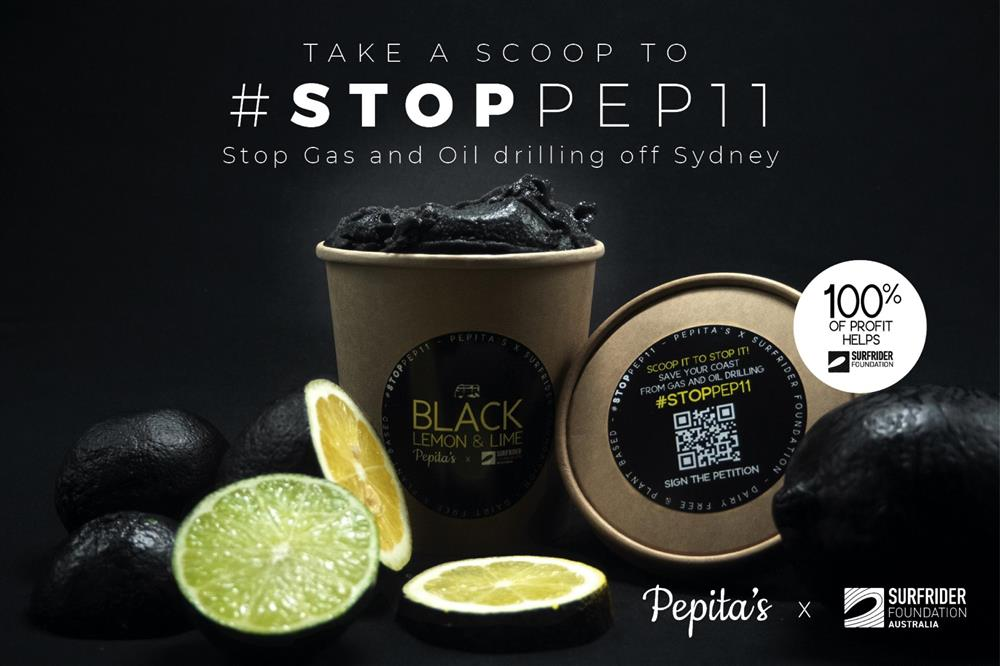 澳洲雪梨冰淇淋店Pepita's黑色冰淇淋廣告ed