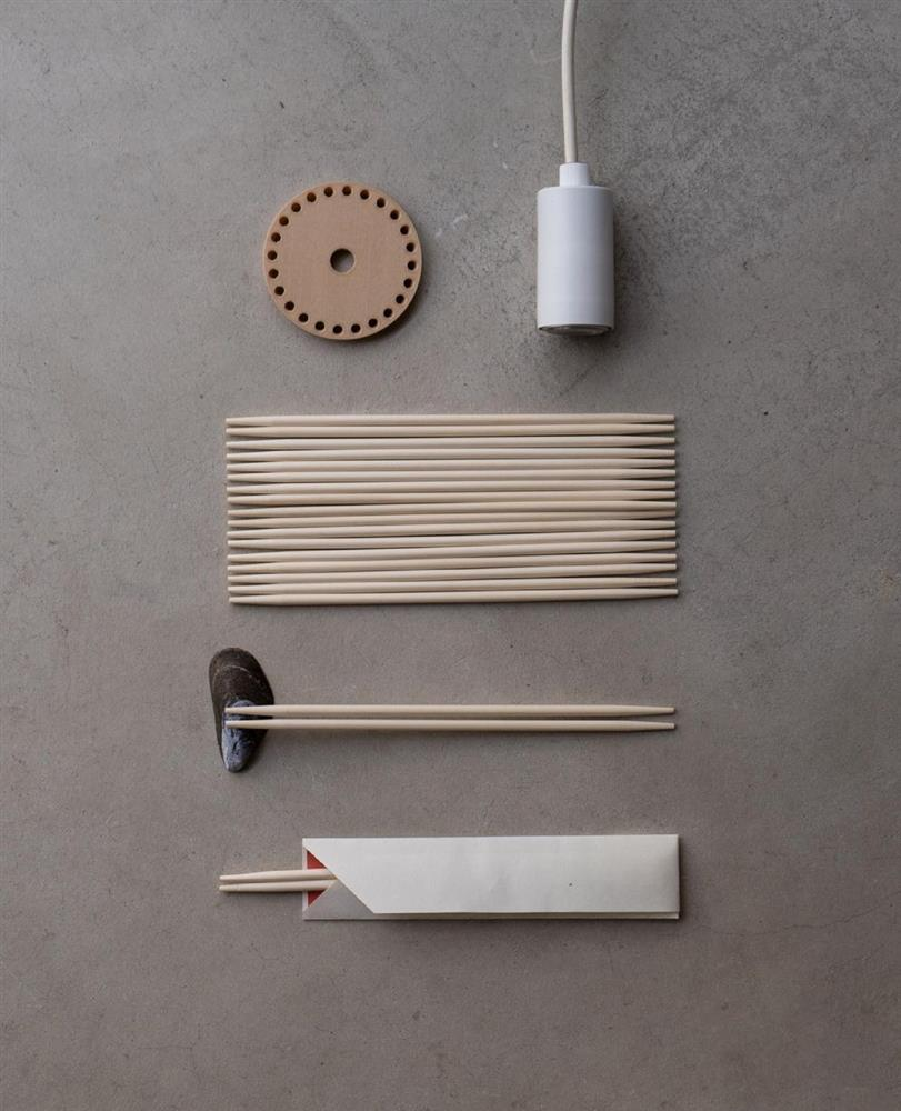免洗筷變身簡約摩登燈罩05