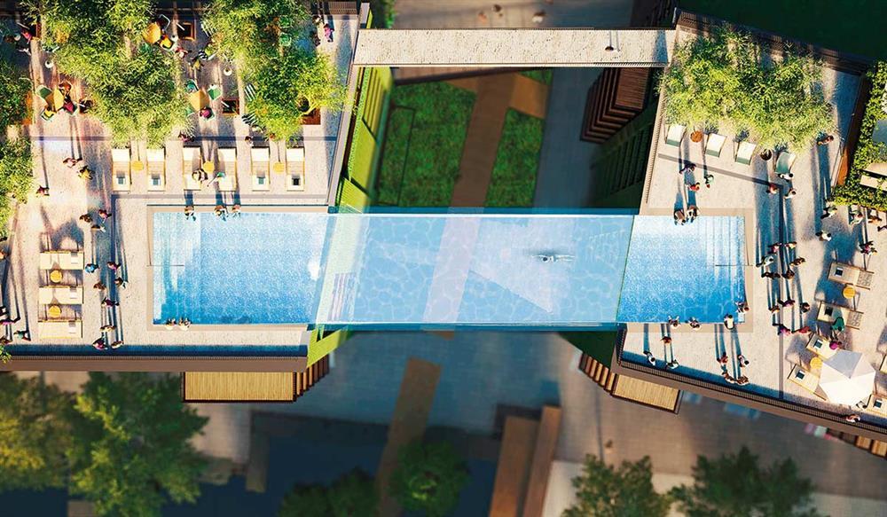 英國倫敦九榆樹區「使館花園」全球首座透明高空泳池_05