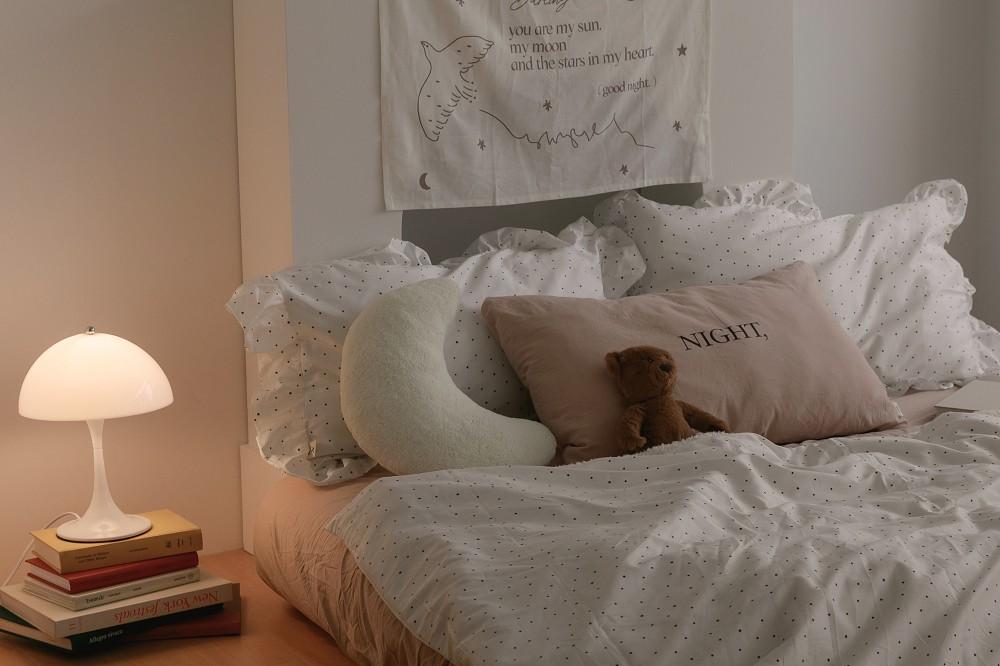 hoiA'ROOM浪漫點點荷葉枕套被套三件組_情境