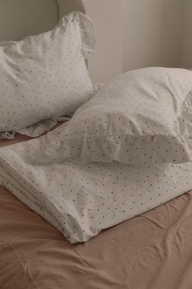 hoiA'ROOM浪漫點點荷葉枕套被套三件組_被套枕套