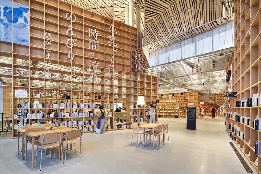 那須鹽原市立圖書館Miruru的溫潤木質空間4