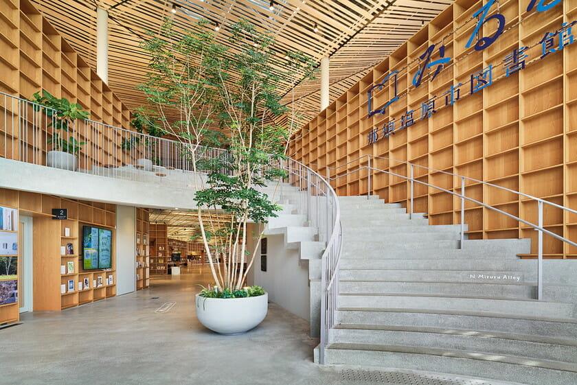 那須鹽原市立圖書館Miruru的溫潤木質空間3