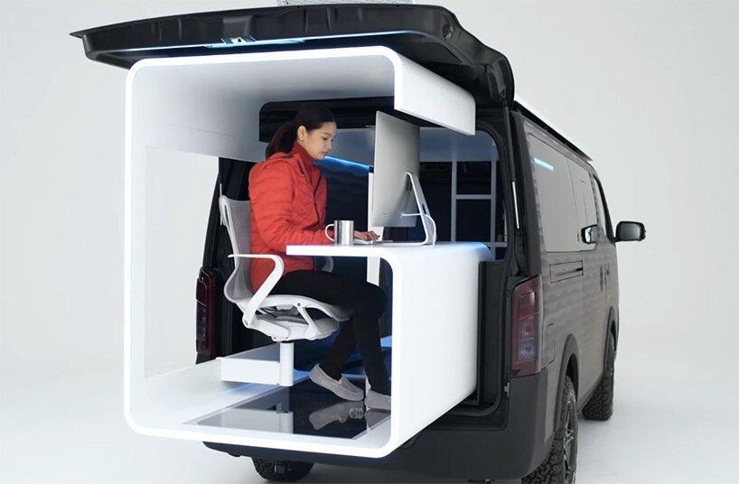 Nissan NV350變身「行動辦公車」!戶外上山下海也能一邊工作_02