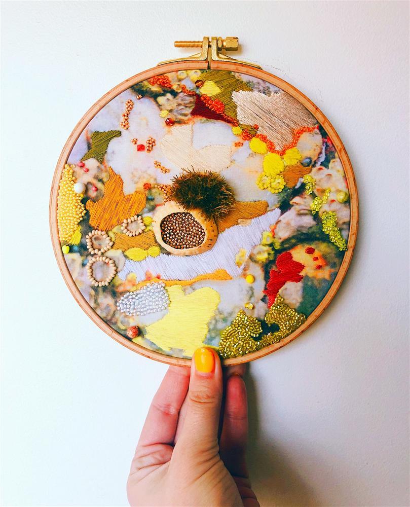 海洋地景成靈感!英國刺繡藝術家Emily Botelho用針線再現大自然紋理美景_0