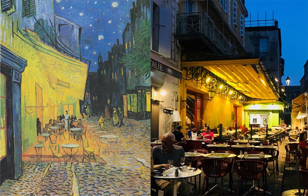 Le Café La Nuit--《夜晚露天咖啡座》,文森‧梵谷
