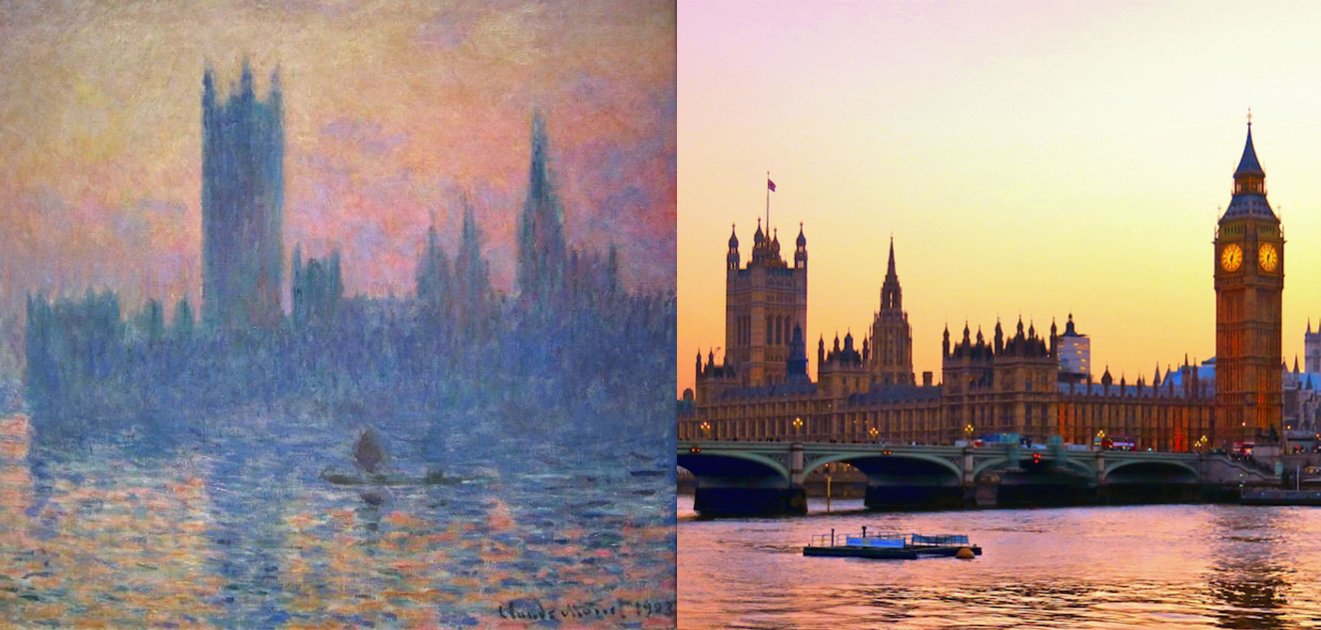 The Palace of Westminster--《陽光穿過的國會大廈》系列,克勞德‧莫內