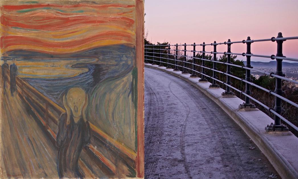 Valhallvegen Road--《吶喊》系列,愛德華‧孟克