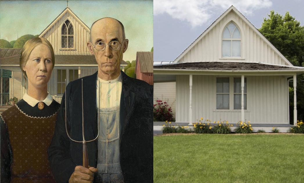 Dibble House--《美式歌德》,格蘭特‧伍德
